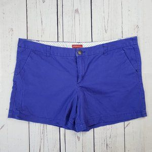 Merona Royal Blue Twill Shorts Size 18